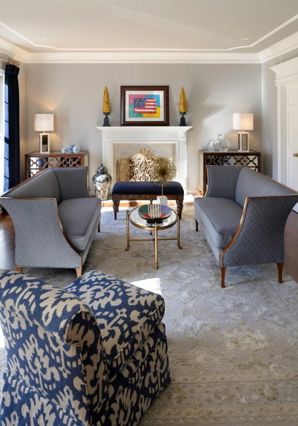 living room decorating ideas and designs Remodels Photos Savvy Surrounding Style St. Louis Missouri United States traditional-living-room