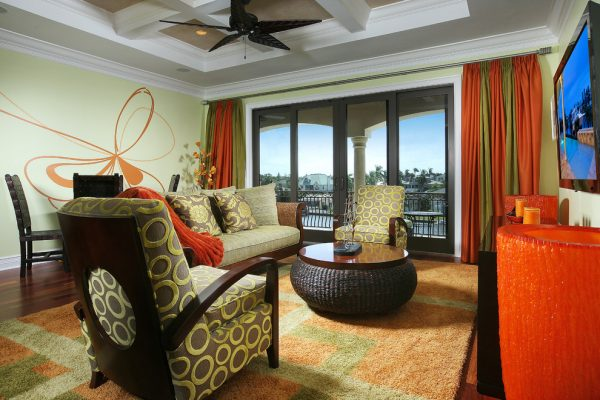 living room decorating ideas and designs Remodels Photos Savvy Surrounding Style St. Louis Missouri United States tropical-family-room