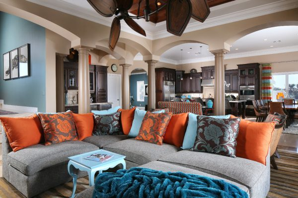 living room decorating ideas and designs Remodels Photos Savvy Surrounding Style St. Louis Missouri United States tropical-living-room
