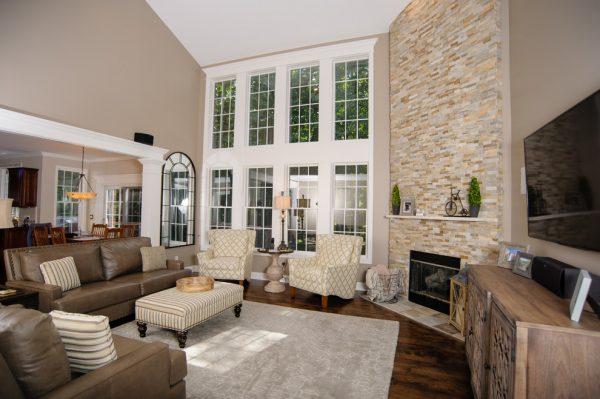 living room decorating ideas and designs Remodels Photos Tanya Rynicke Interiors, LLC Brighton Michigan United States transitional-living-room