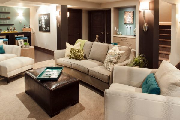 living room decorating ideas and designs Remodels Photos TruDesign Lafayette Colorado United States contemporary-basement-001