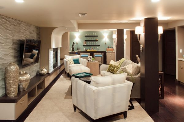living room decorating ideas and designs Remodels Photos TruDesign Lafayette Colorado United States contemporary-basement