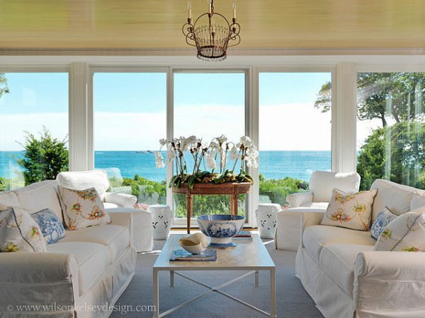 living room decorating ideas and designs Remodels Photos Wilson Kelsey Design Salem Massachusetts United States tropical-family-room