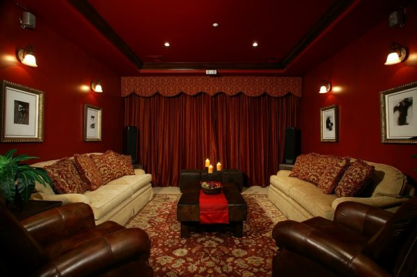 living room decorating ideas and designs Remodels Photos ZS Interior Design Sacramento California United States mediterranean-home-theater