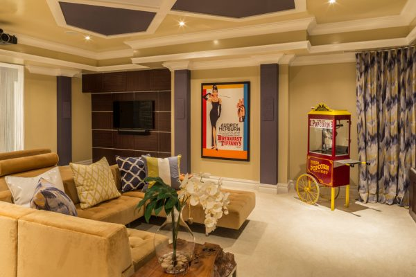 living room decorating ideas and designs Remodels Photos diSalvo Interiors Carle Place New York United States contemporary-home-theater-002