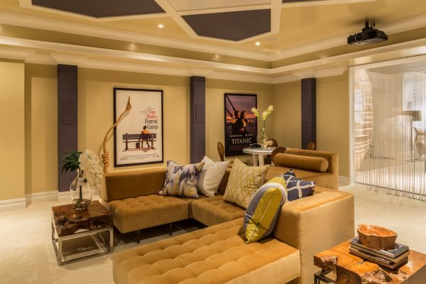 living room decorating ideas and designs Remodels Photos diSalvo Interiors Carle Place New York United States contemporary-home-theater