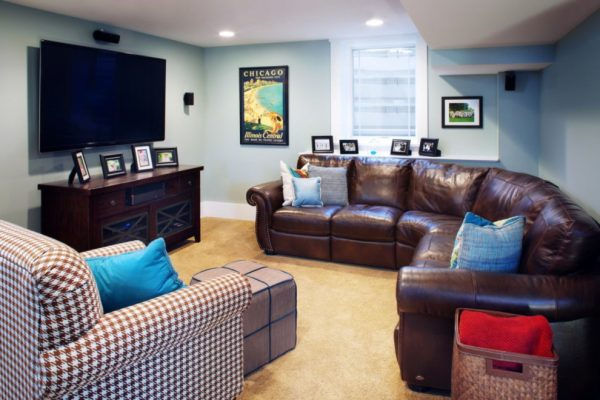 living room decorating ideas and designs Remodels Photos jg interiors Omaha Nebraska United States traditional-basement