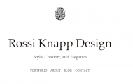 Interior Designer & Decorator : Rossi Knapp Design