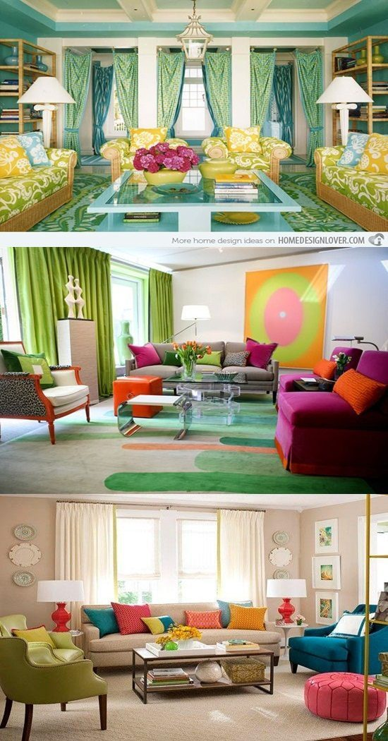 Colorful Living Room Interior Design