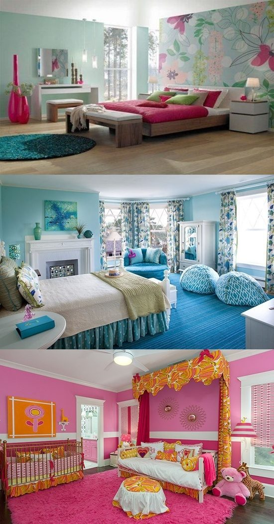 Colorful Girls' Bedroom Interior Design Ideas