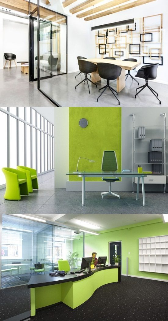 Design Interior Office, Colors, planning