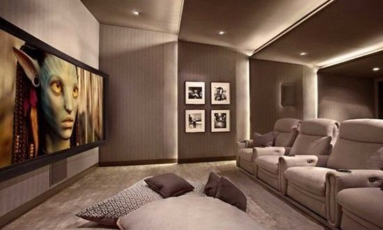 living room with home theater design home theater interior design interior design 26773