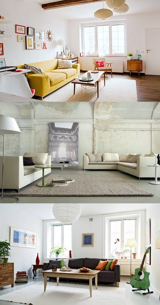 How to decorate a living room with white walls - White walls living room ...