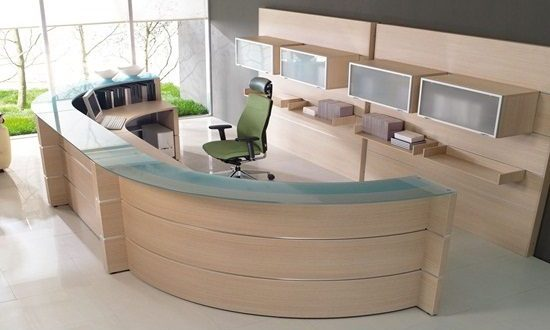 Office reception interior design reception area for Interior designers in my area