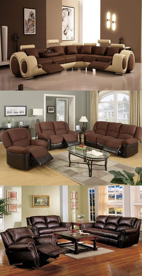 How to decorate a living room with brown furniture
