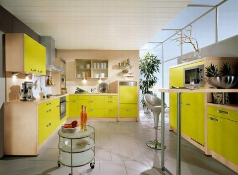 Ideas for Modern Kitchen Designs, colors and lights