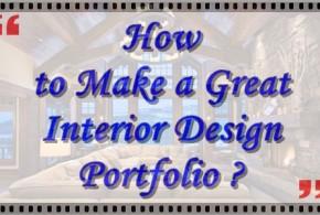 How to make a great Interior Design Portfolio ?