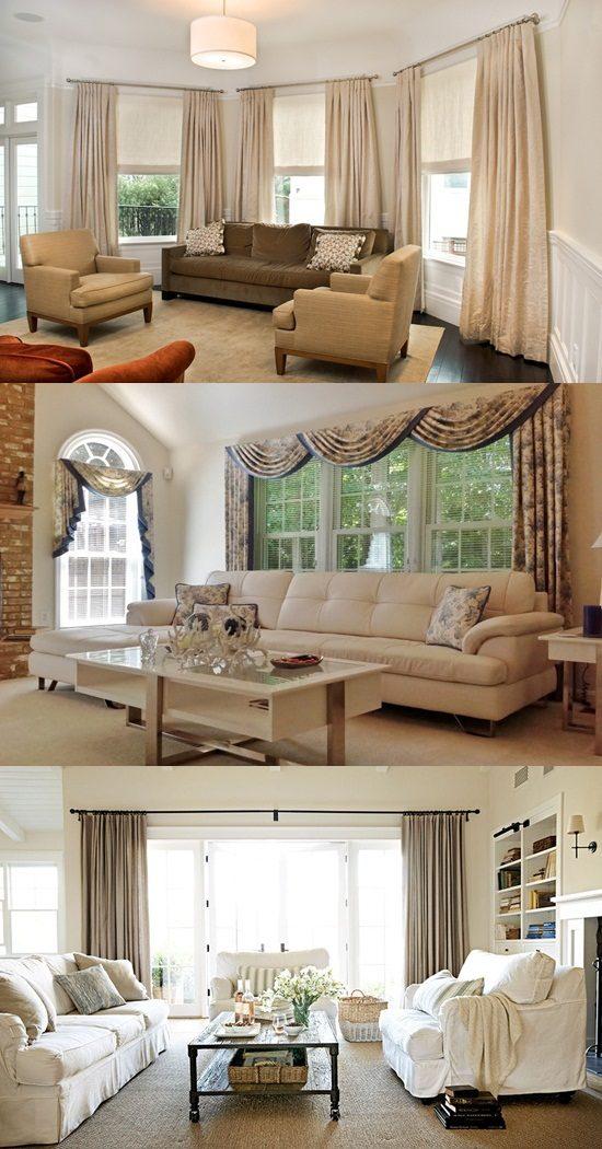 Living room window treatment ideas - Living room window treatments ...