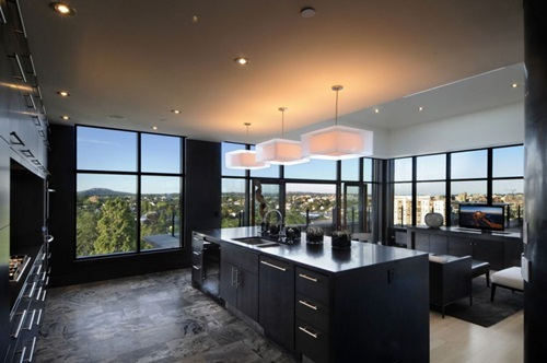 Modern Black Kitchen Designs
