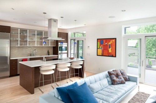 Kitchen Integrated In Living