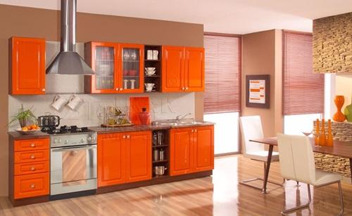 astounding orange kitchen decorating ideas | Vibrant Orange Kitchen Decorating Ideas