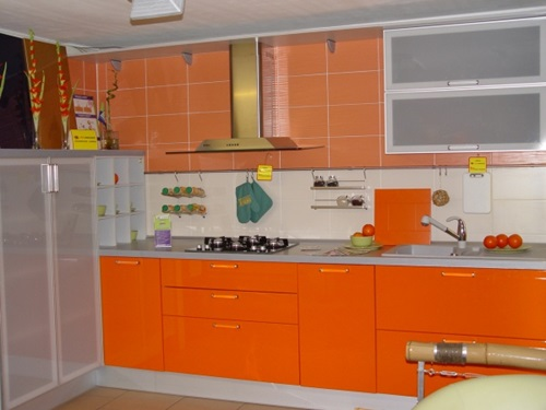 orange kitchen ideas vibrant orange kitchen decorating ideas interior design 14459