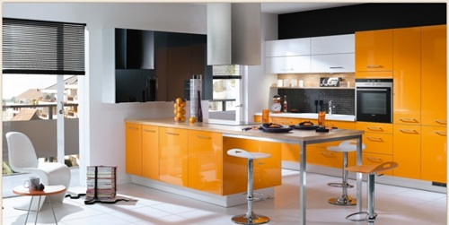 Vibrant OrangeVibrant Orange Kitchen Decorating Ideas