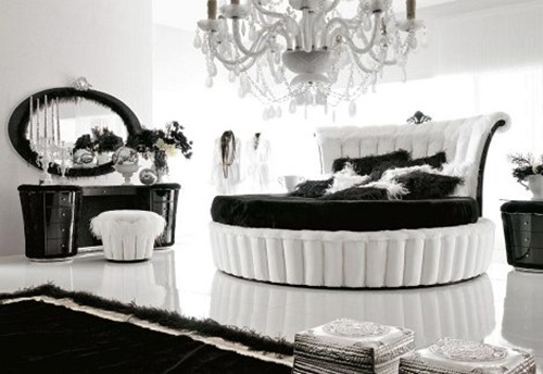 Black White Vintage Bedroom Design Ideas