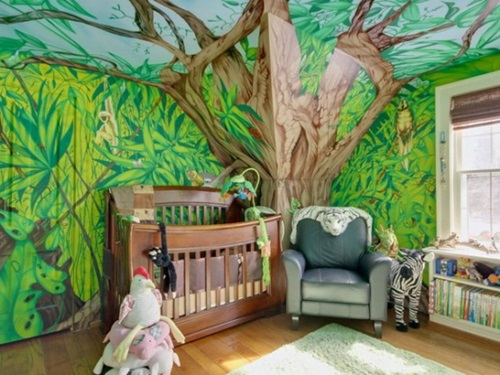 How to Create a Jungle-Themed playroom