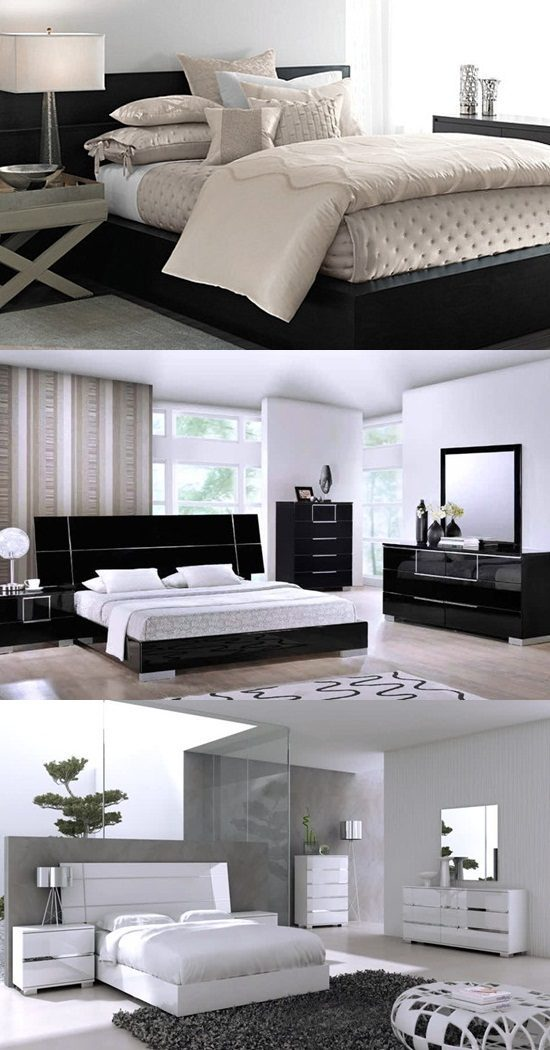 How to Decorate a Bedroom with Black Lacquer Furniture - Interior design