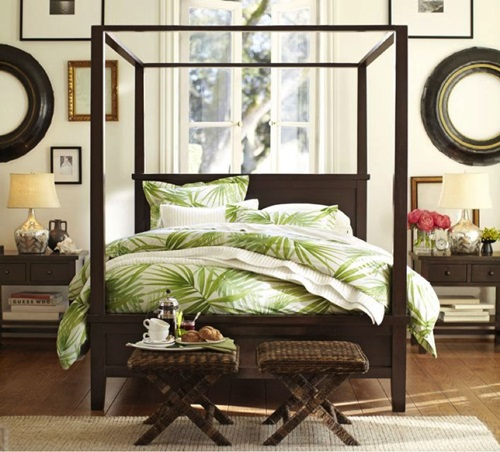 How to create a Tropical bedroom