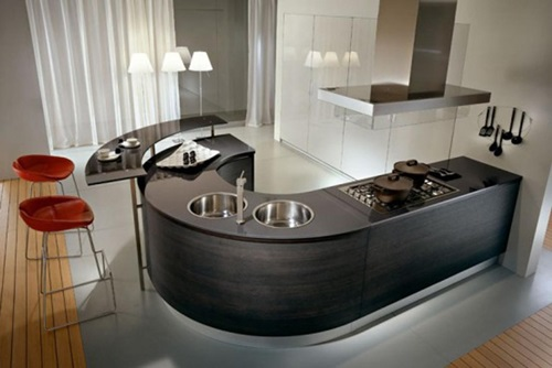 Modern Curved Kitchen Design ideas