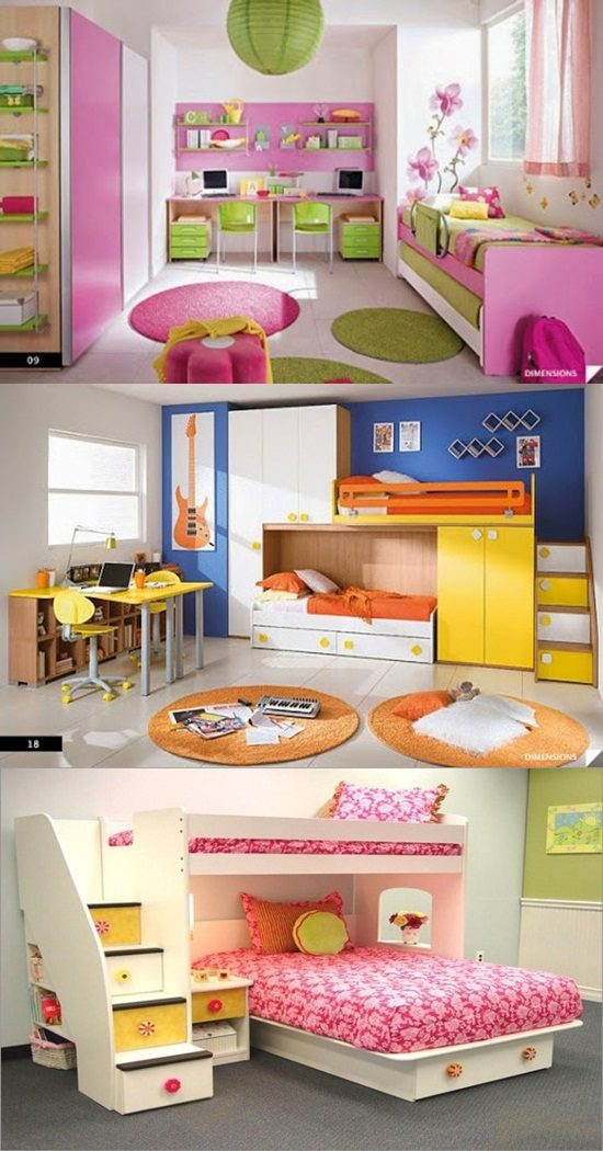 Multi-functional beds for small kids\' bedroom