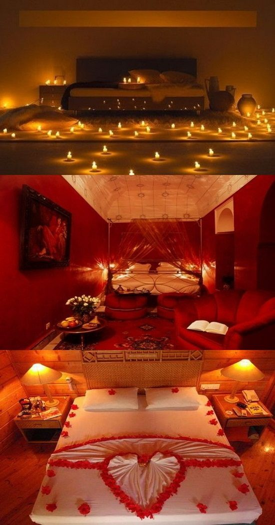 Romantic valentine s day bedroom decorations - Romantic decorations for hotel rooms ...