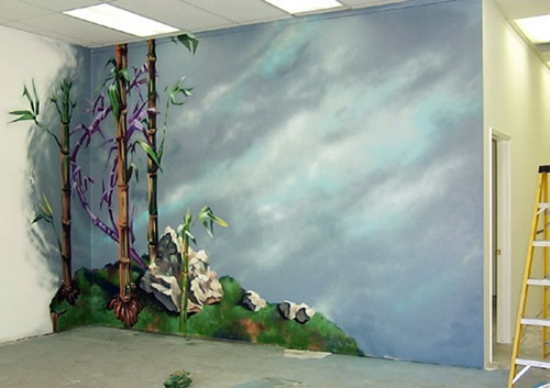 Wall and painted murals