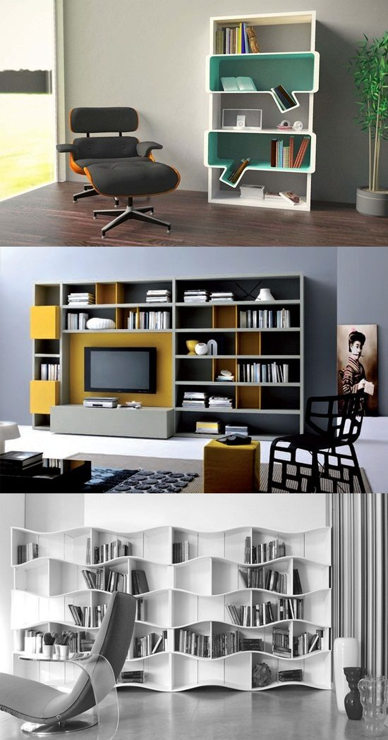 Book cases as a decorative piece of furniture