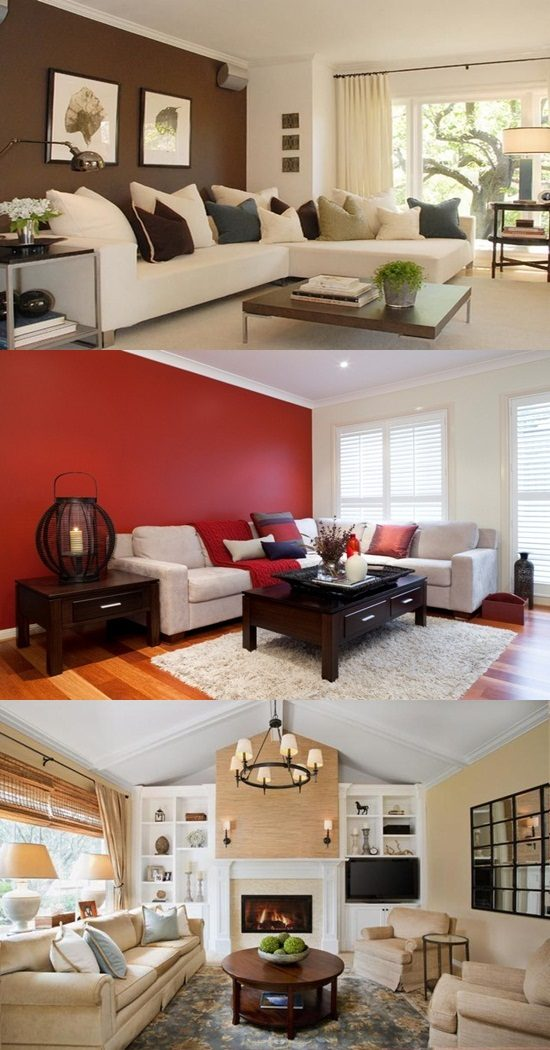 Different ideas for living room colors