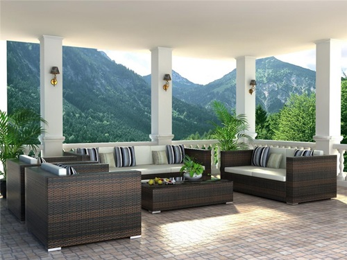 Elegant outdoor wicker furniture