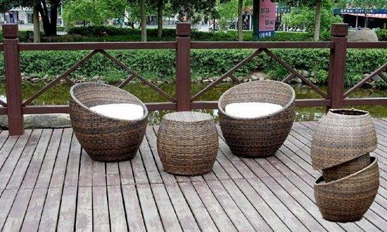 Elegant outdoor wicker furniture