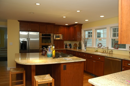 Kitchen island and Boucher blocks