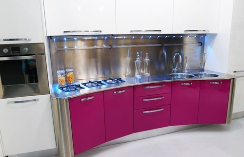 Modern Pink Kitchen Design