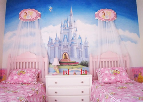 Pink bedrooms for little girls