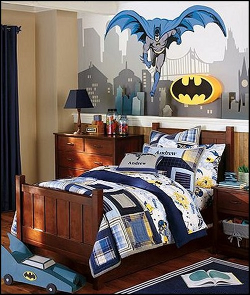 Superman and Batman Themes for Kid\'s Bedrooms - Interior design