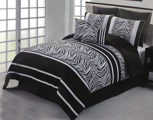 Zebra strips with pink for girlish bedroom designs 6