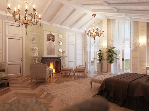 A fireplace in the bedroom!!…why not!
