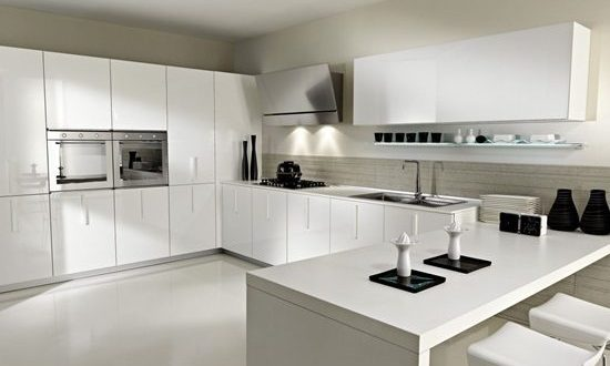 Black and White Minimalist Kitchens