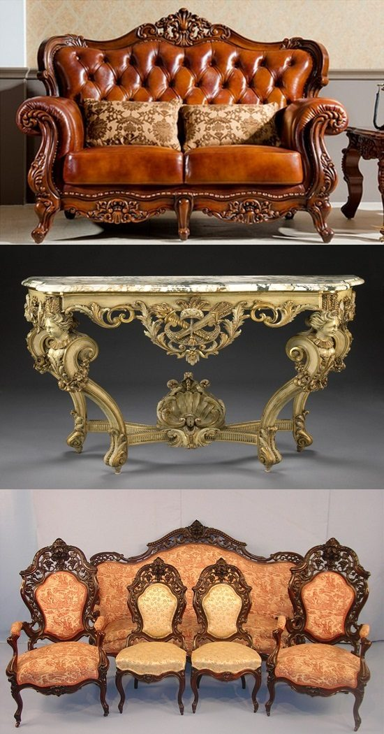 English Baroque and Rococo Furniture Antiques