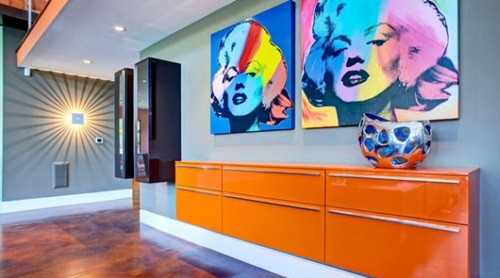 Fashionable wall decorations - vibrant colour