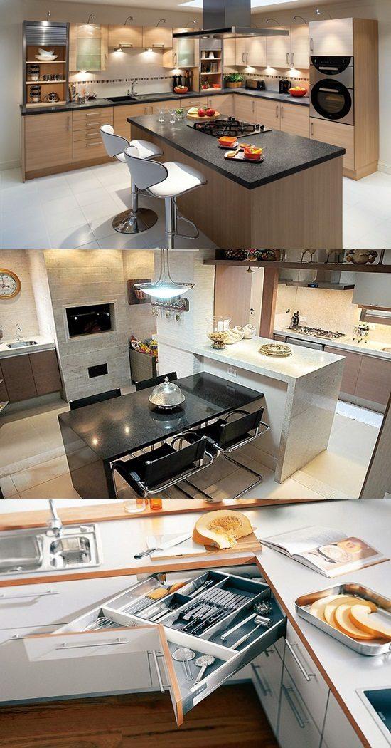 Interior Design 4 Tier Tension Pole Caddy: Space Saving Kitchen Design