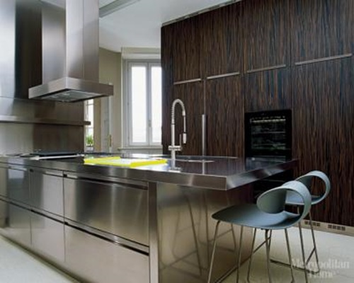 stainless steel kitchen cabinets india stainless steel in luxury kitchens design interior design 26637